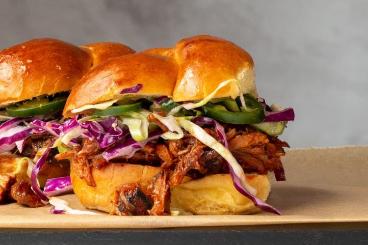 Country Style BBQ Rib Sliders with Crunchy Slaw