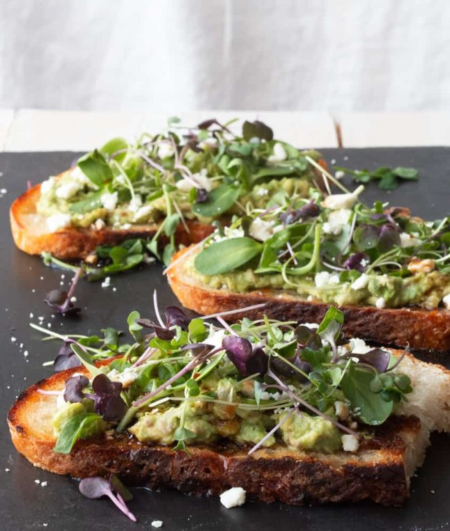 Sourdough Avocado Toast with Microgreens