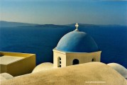 the stunning views in Santorini, Greece August 2006