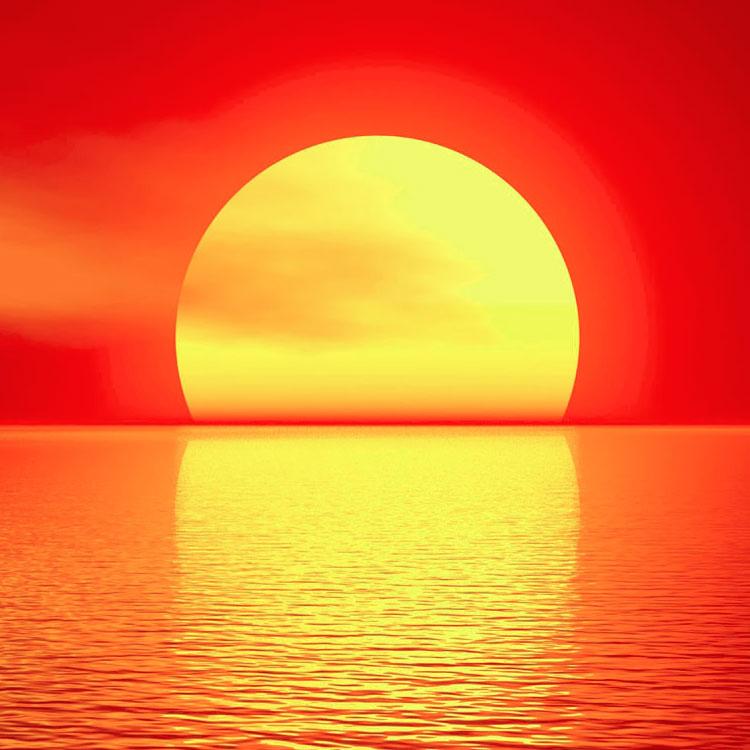Unico Immagini Tramonto sole Sul Mare Disegno A Colori