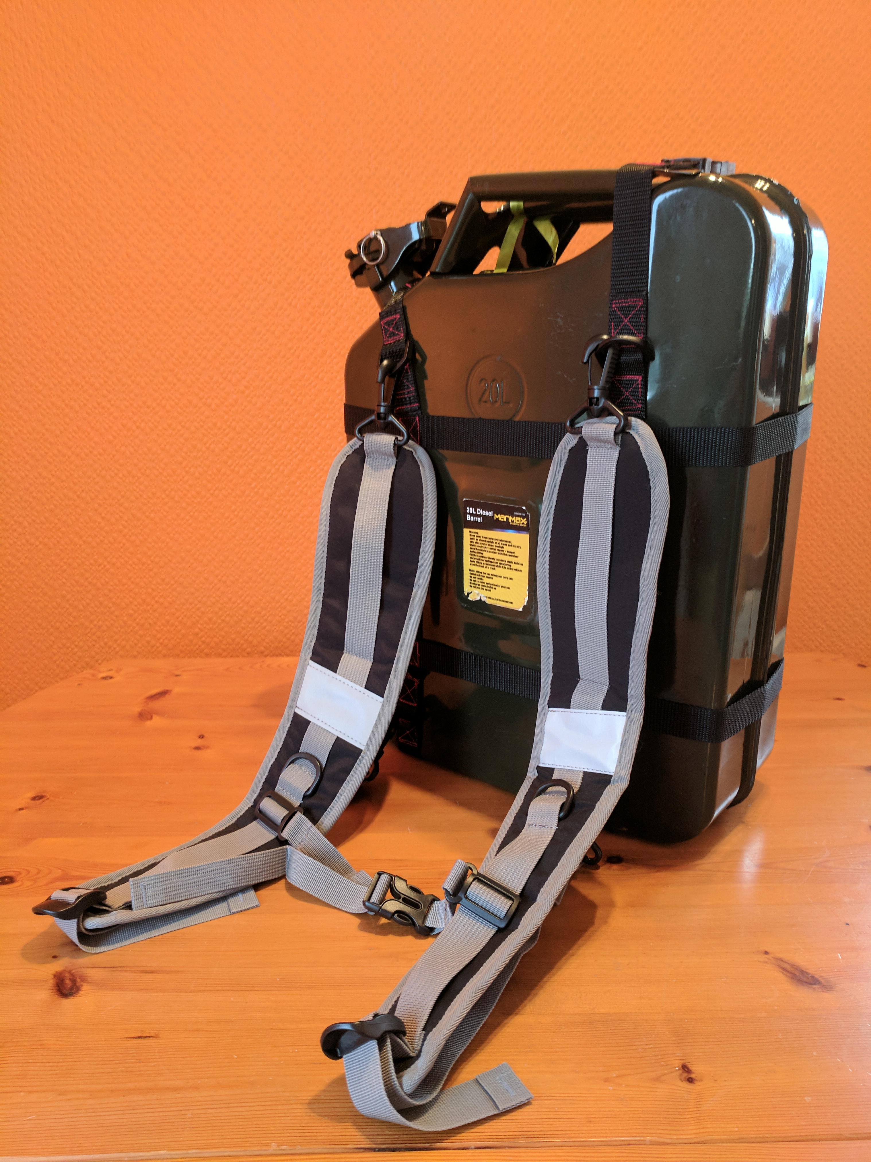 The Jerry Carry Lightweight Jerry Can Carrier Backpack
