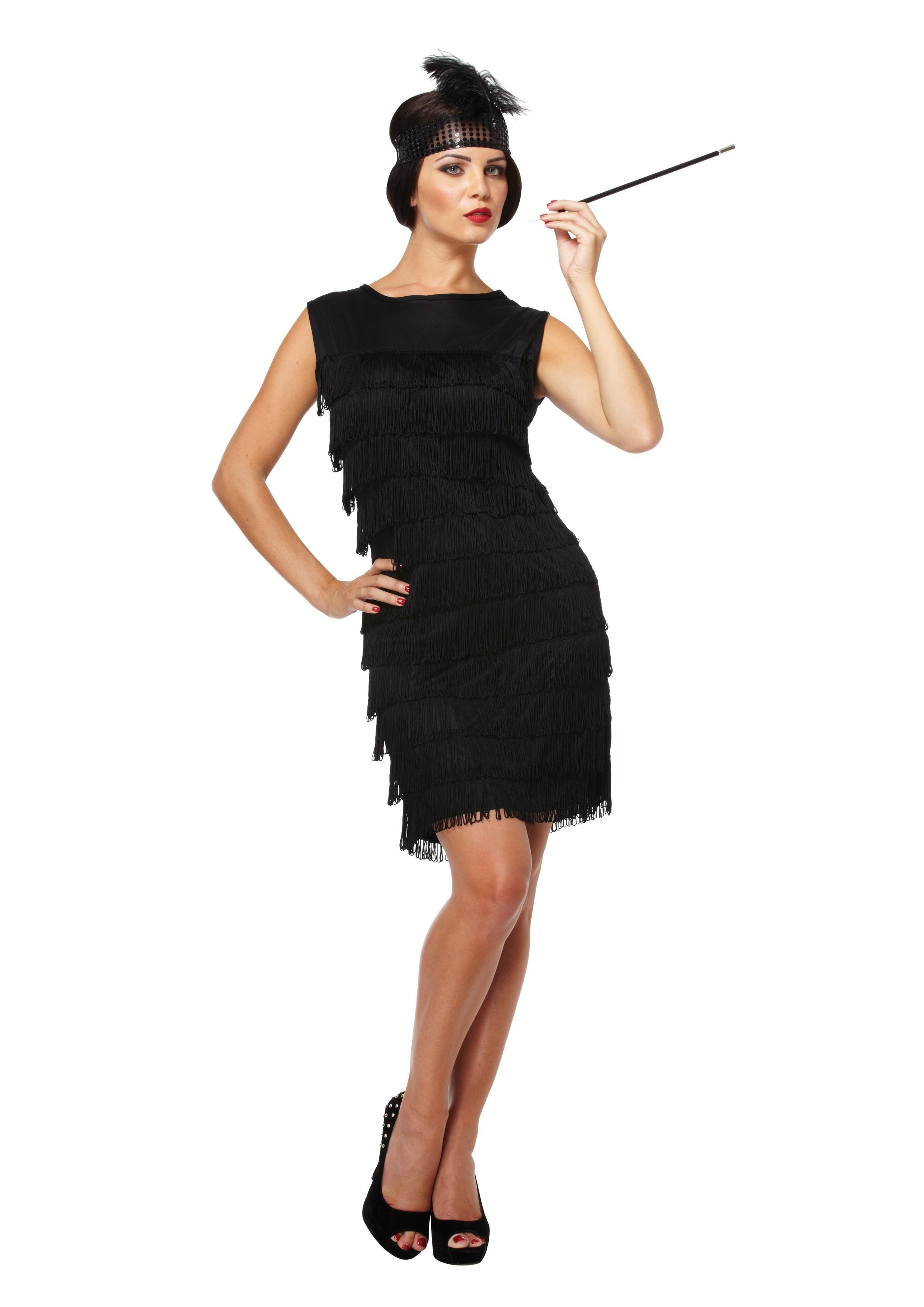 Jaren 20 jurkje zwart kopen Confettifeestnl