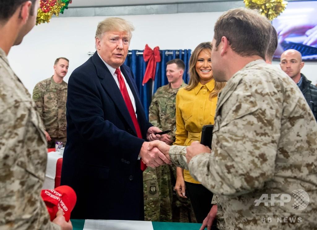 トランプ大統領、イラクを電撃訪問