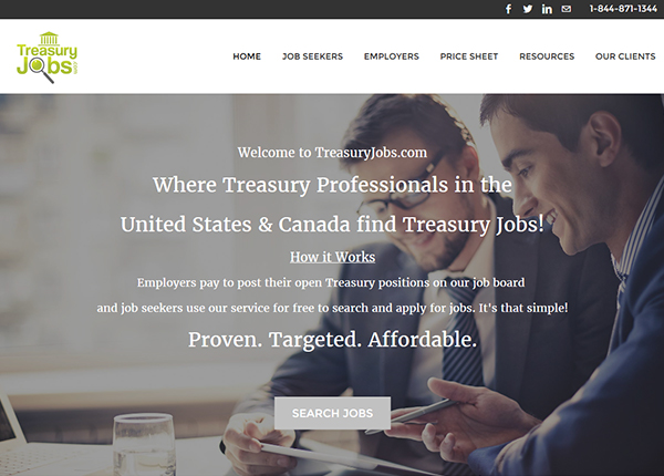 Treasury Jobs Site
