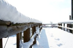 I had a hard time walking up the boardwalk because it was covered in 4 inches of snow!!