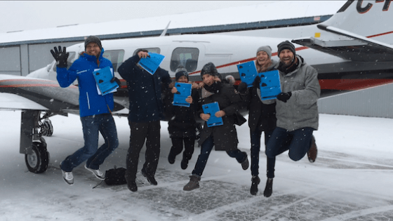 Neither Blizzards Nor Fears Kept This Group Grounded