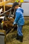 Milkfarmer with helping hand
