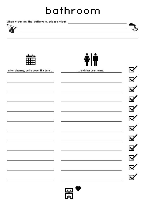 Housekeeping Log Sheet Templates