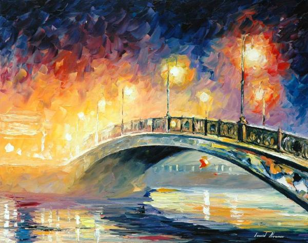 European Cities Oil Paintings Canvas Leonid Afremov