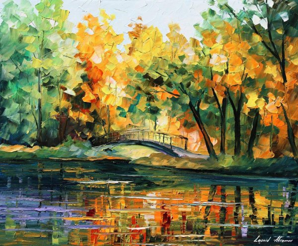 Lake Of Hope Palette Knife Oil Painting Canvas