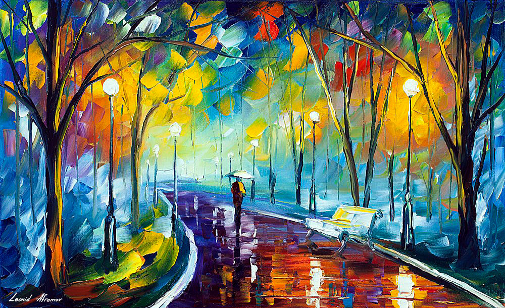 Programming Cute Wallpaper Misty Mood 3 Palette Knife Oil Painting On Canvas By