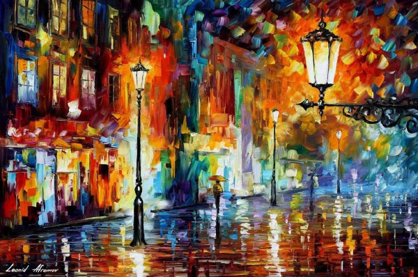 Impressionist Paintings Night Lights
