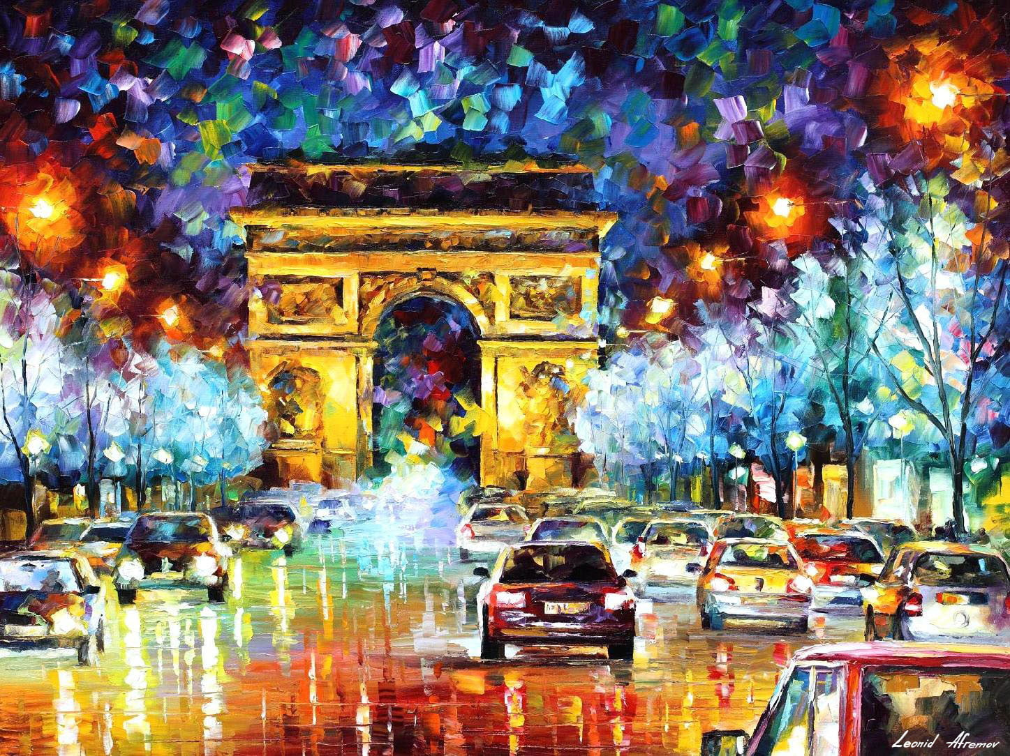 paris flight palette knife