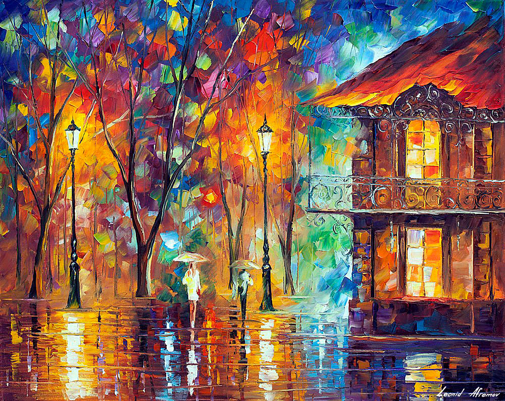 Rain Energy — Palette Knife Oil Painting On Canvas By