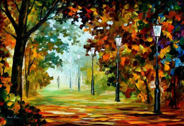 Morning Light 2 Palette Knife Oil Painting Canvas