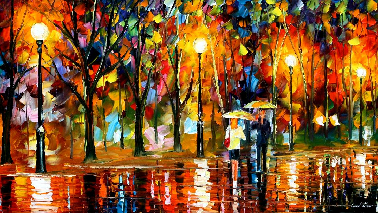 Lonely Love Wallpapers With Quotes Leonid Afremov Oil On Canvas Palette Knife Buy Original