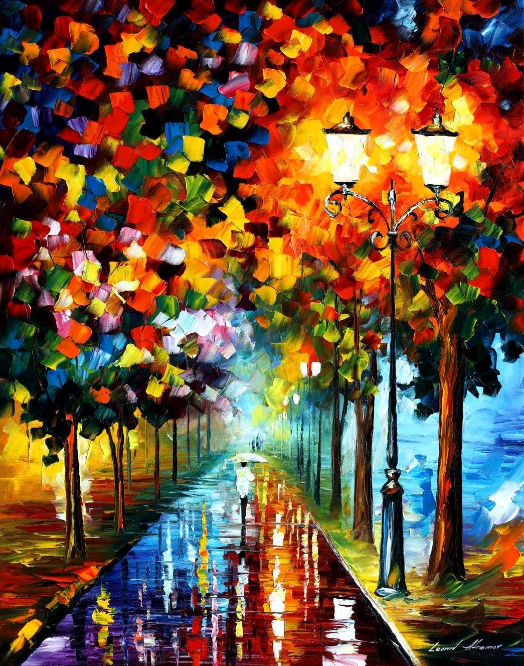 Burst Of Colors — Palette Knife Oil Painting On Canvas By