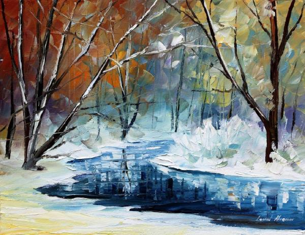 Winter Dream Palette Knife Oil Painting Canvas