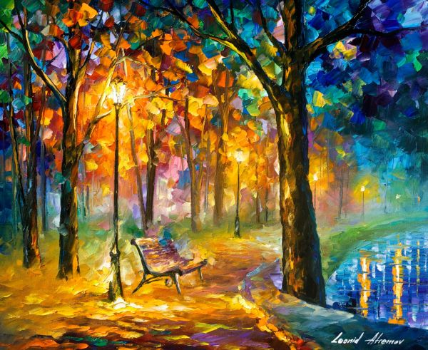 Painting by Leonid Afremov Oil On Canvas