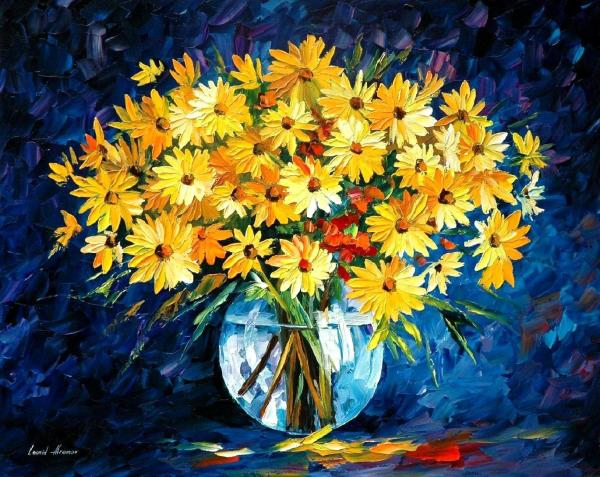 Yellow Flower Painting Famous