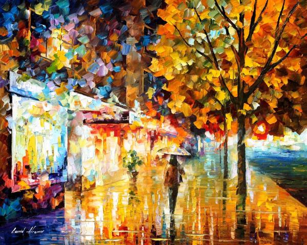 City Movement Palette Knife Oil Painting Canvas