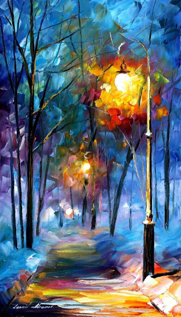 Leonid Afremov Winter Painting