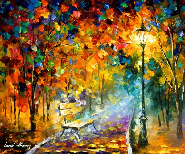 Bench Of Lost Love - Oil Painting Canvas Leonid