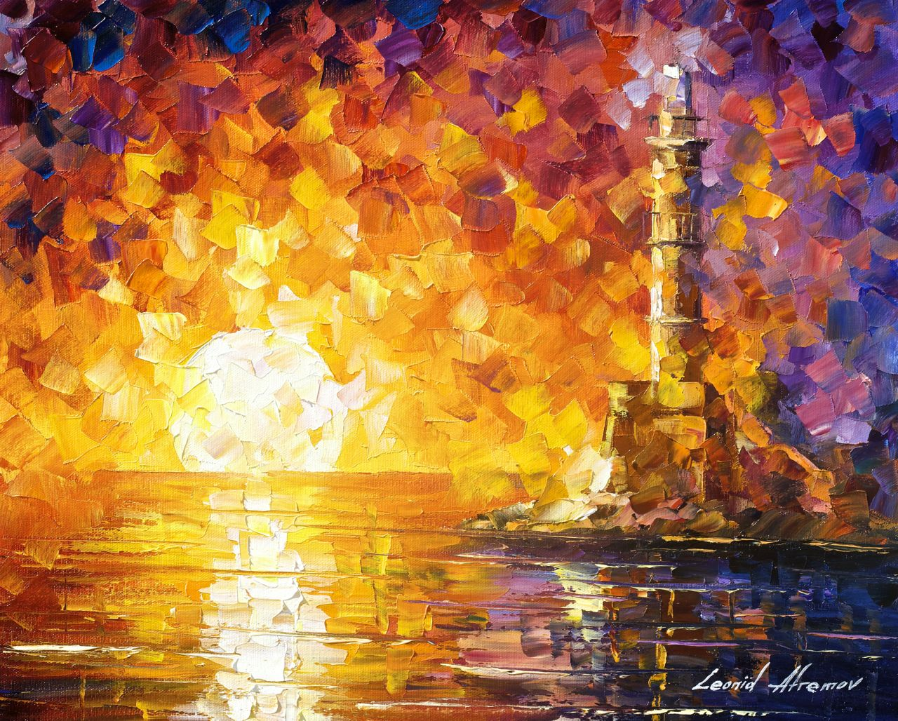 Fall Kittens Wallpaper Afremov Original Oil Painting Palette Knife