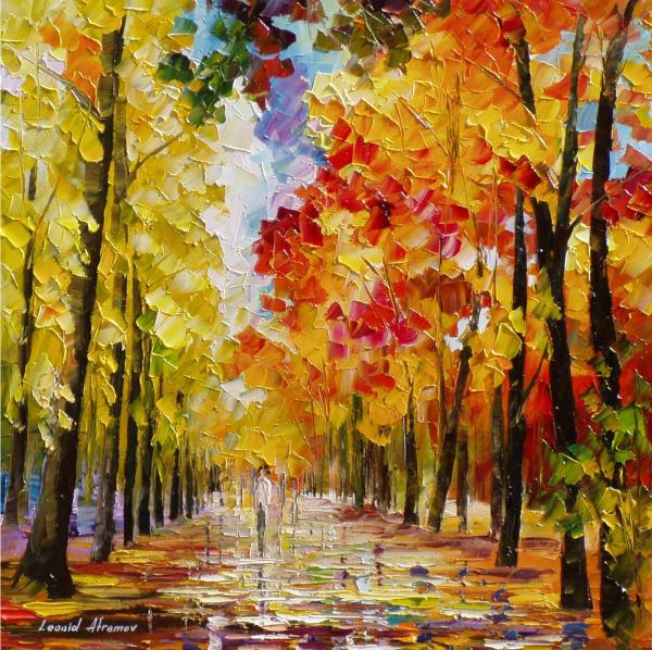 Beautiful-day Palette Knife Oil Painting Canvas