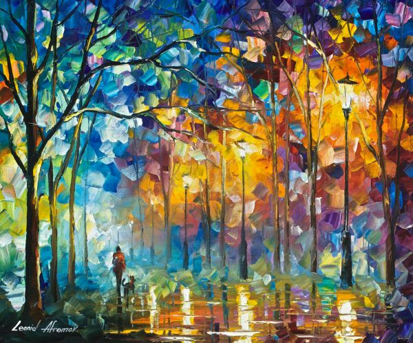 "Friends - Palette Knife Oil Painting Wall Art Canvas Leonid Afremov 24""xx30"""
