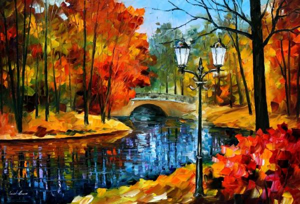 Leonid Afremov Oil Canvas Palette Knife Original