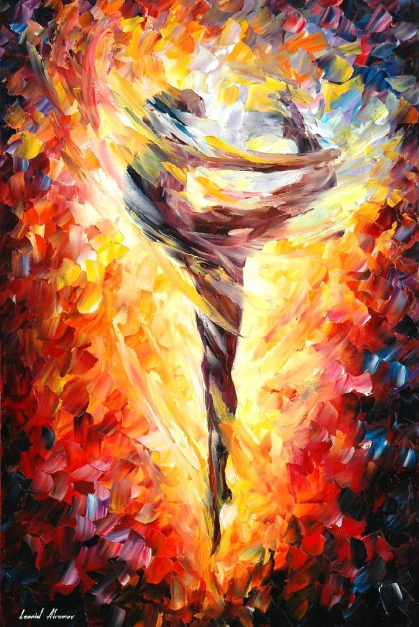 Ballet 3 Palette Knife Oil Painting Canvas Leonid