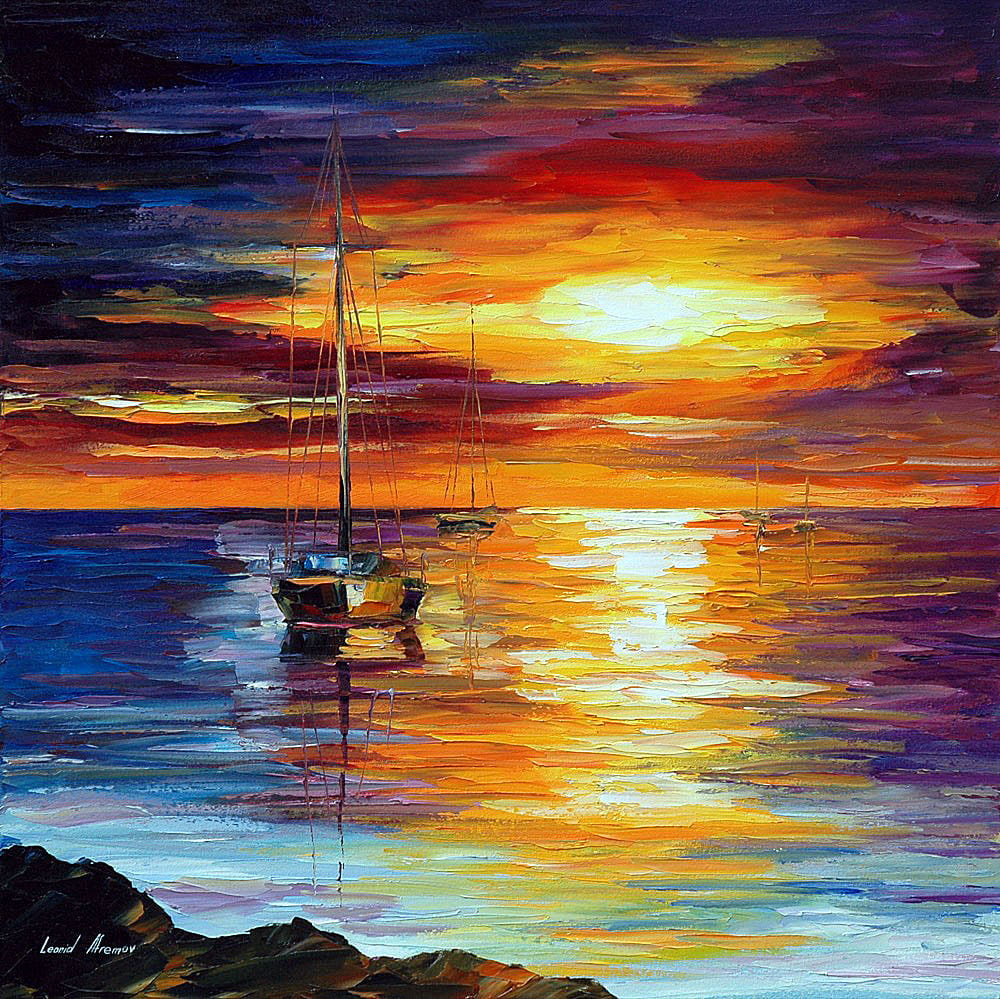 Prabhakaran Hd Wallpapers Calm Sea Palette Knife Oil Painting On Canvas By Leonid