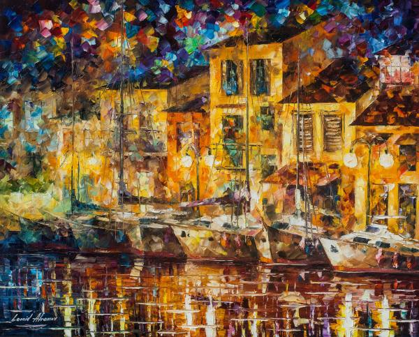 Dreaming Dock Original Oil Painting Canvas Leonid