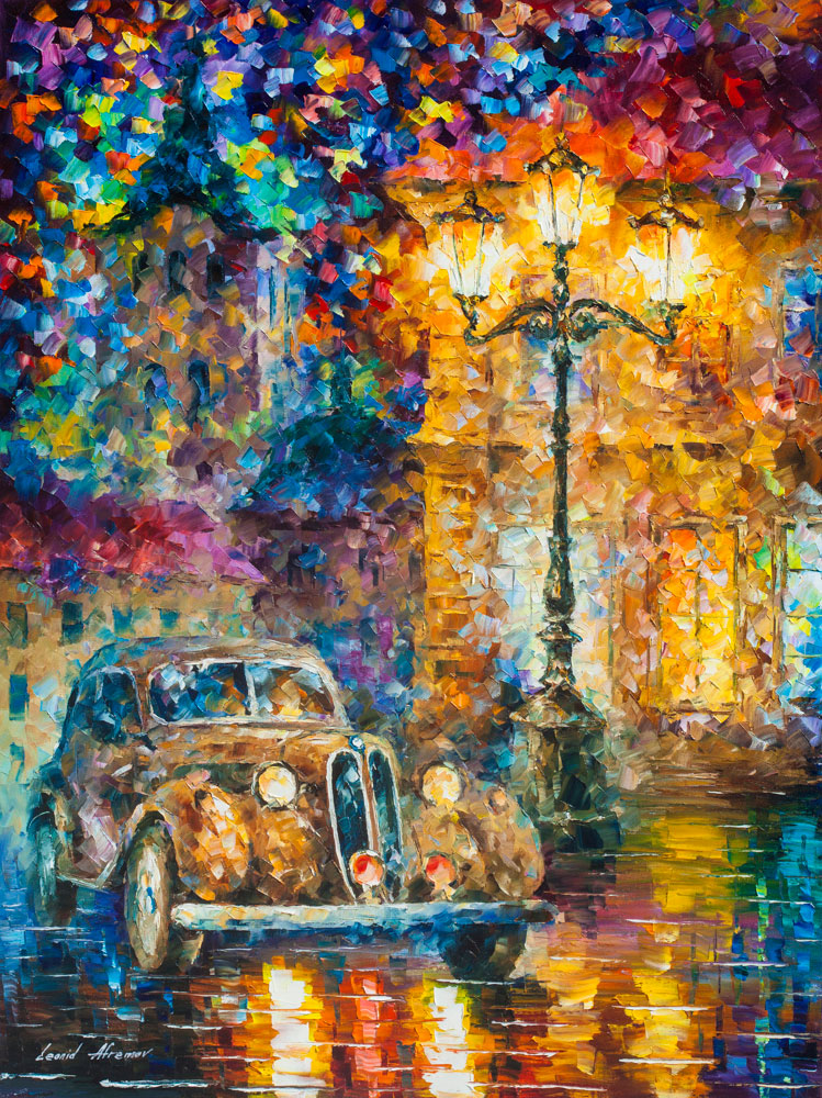 Free Early Fall Wallpaper Vintage Car Collection Palette Knife Oil Painting On