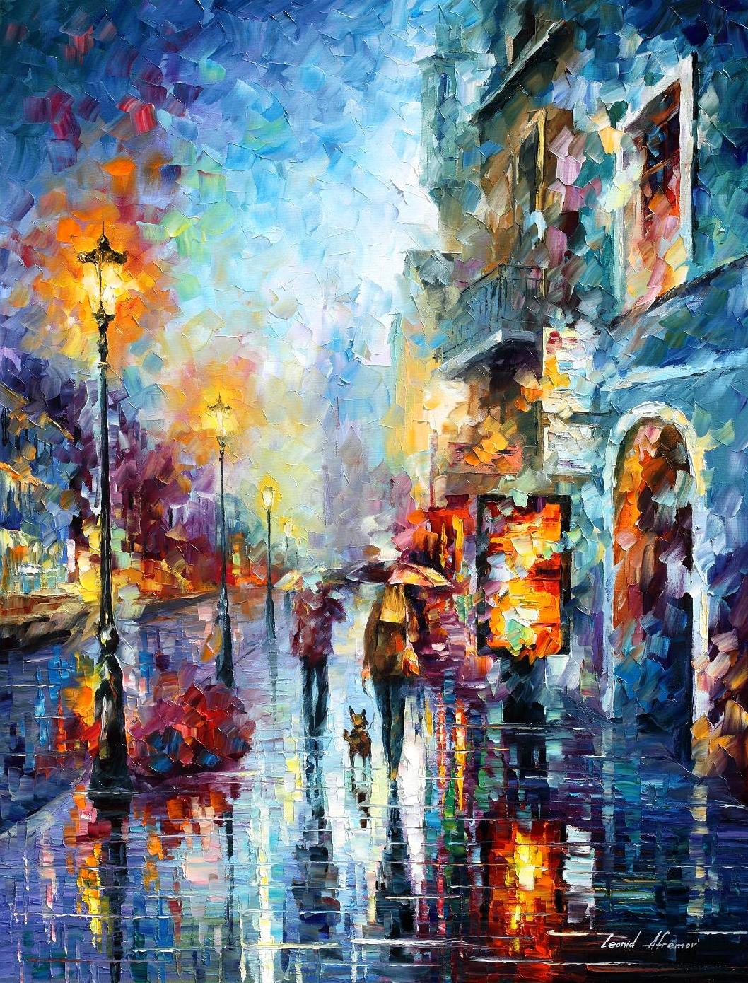 Abstract Wall Art By Famous Painter Leonid Afremov For