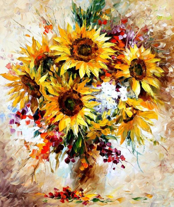 Art Oil Painting Sunflowers