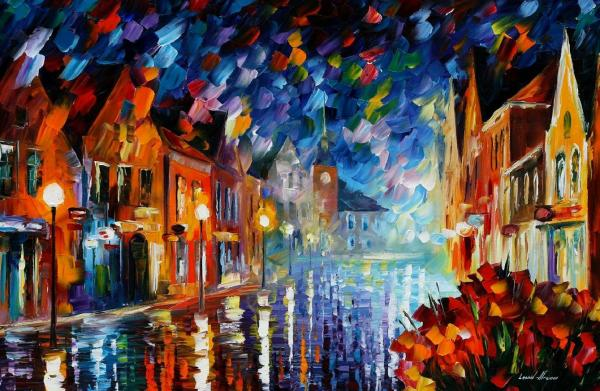 Night Oil Painting Canvas
