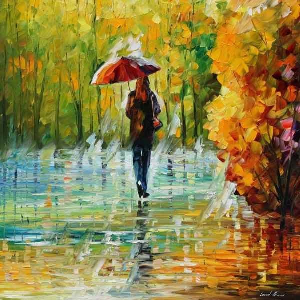 Beauty Of Rain Palette Knife Oil Painting