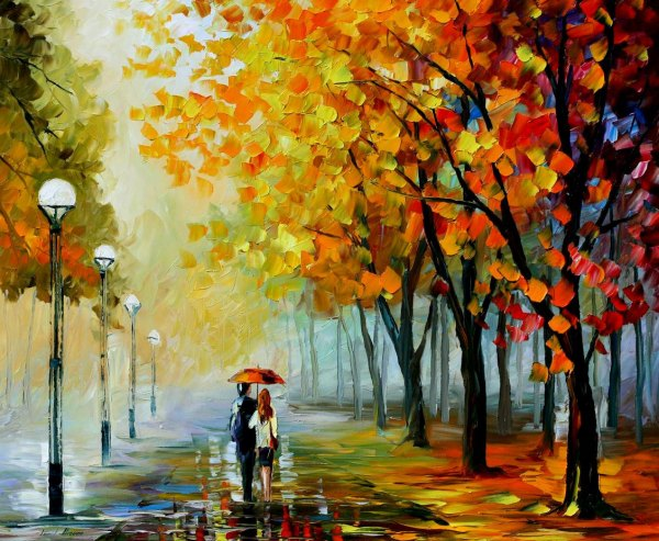 Leonid Afremov Fall Paintings