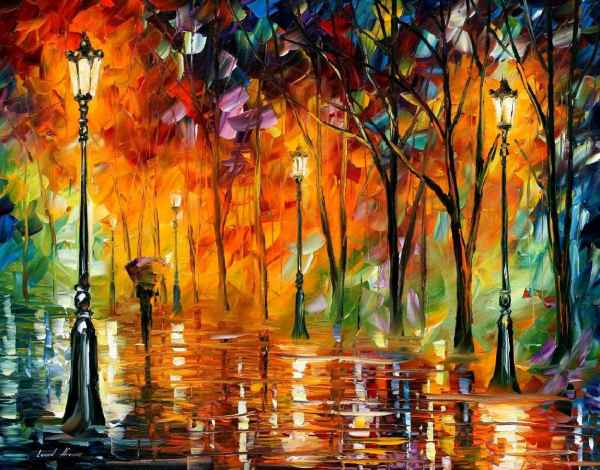 Storm Of Emotions Palette Knife Oil Painting Canvas