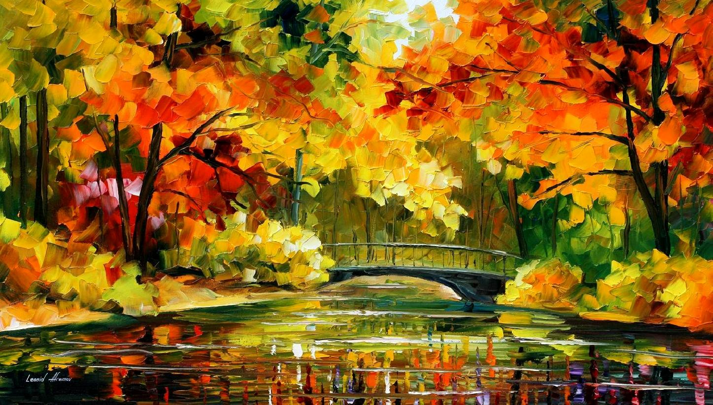 Beautiful Fall Location Wallpapers Leonid Afremov Oil On Canvas Palette Knife Buy Original