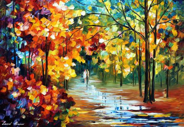 Fall Leaves Watercolor Wallpaper The Spirit Stroll Palette Knife Oil Painting On Canvas