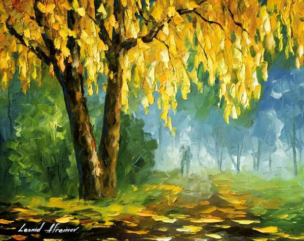 Fall Scenes Wallpaper The Leaves That Never Fall Palette Knife Oil Painting On