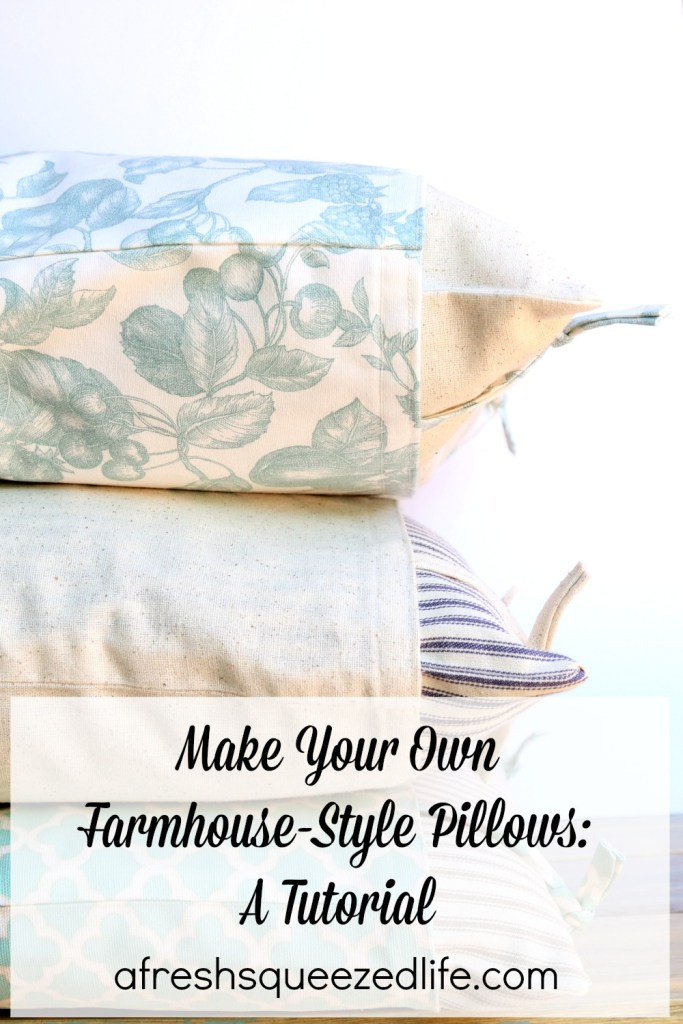 Make Your Own Farmhouse-Style Pillows