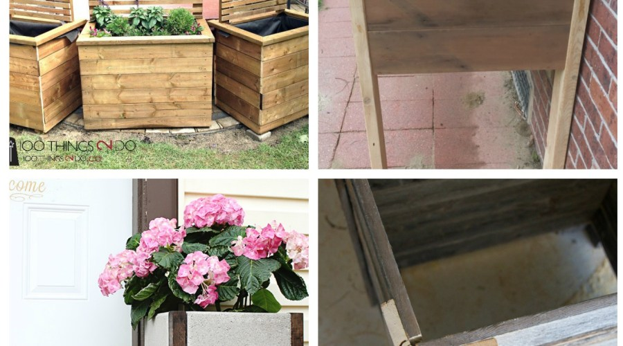 DIY WOOD PLANTER TUTORIALS