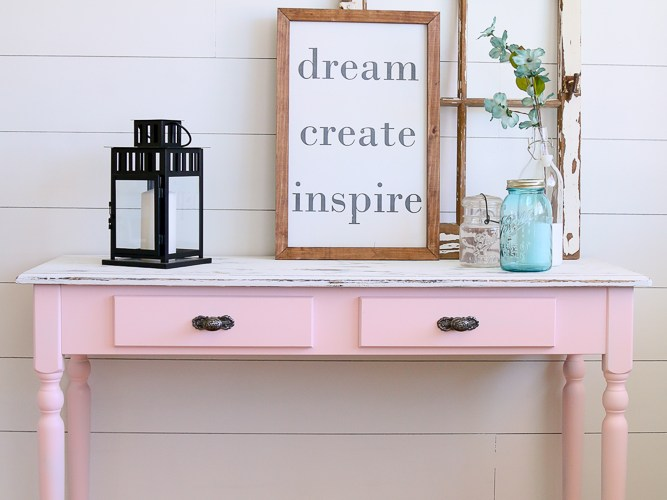 PRETTY IN PINK: THE FURNITURE FLIP I ALMOST TRASHED