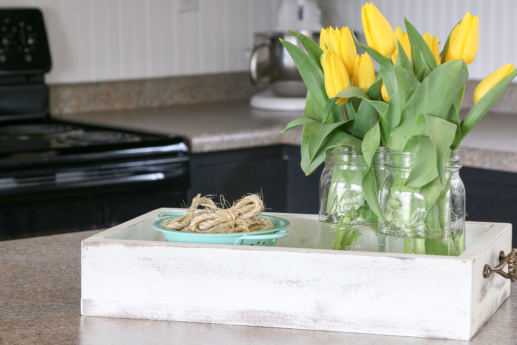 "My house is small so when it comes time to refresh a space I think ""simple"". This also means inexpensive. Let me show you my cute budget kitchen decor. SPRUCING UP THE KITCHEN ON A BUDGET"