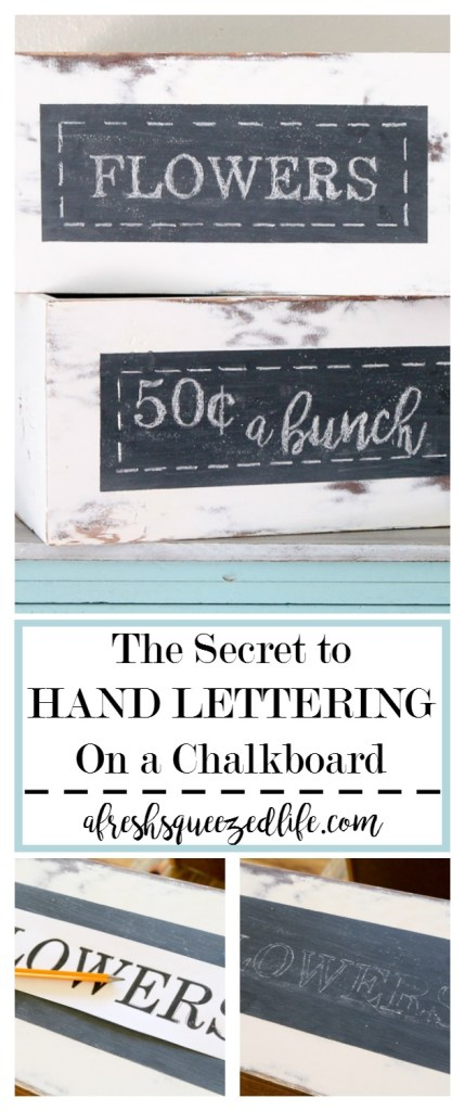 Have you ever set out to write something on a chalkboard only to find it looks terrible? Let me show you the secret to hand lettering on a chalkboard! THE SECRET TO HAND LETTERING ON A CHALKBOARD