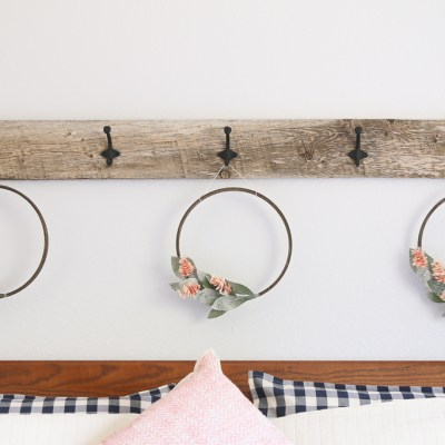 HOW TO MAKE A WALL-MOUNTED HOOK RACK